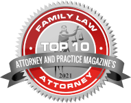 top 10 divorce lawyers badge, somerville nj
